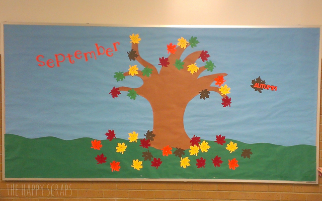 September Decorating Ideas 12 months of bulletin board ideas - the happy scraps