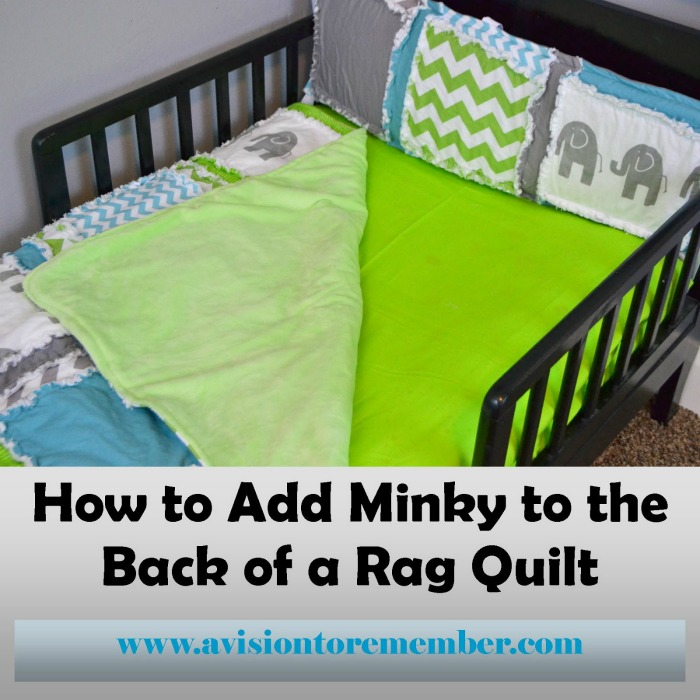 how to add minky to the back of a quilt square