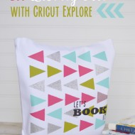 DIY Library Tote with Cricut Explore