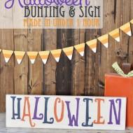 Halloween Bunting & Sign