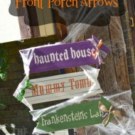 Halloween Front Porch Arrows