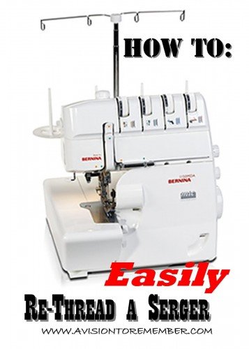 how to easily rethread a serger