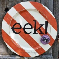 eek! Halloween Plate Decor