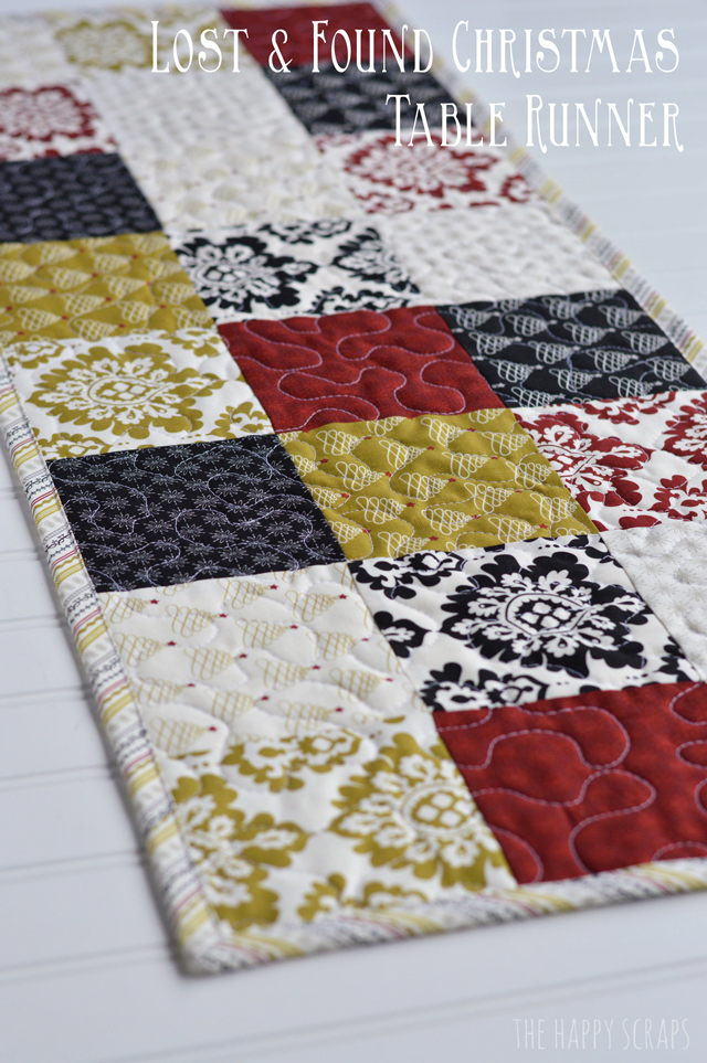 Christmas Table Runner To Make.Table Runner With Lost Found Christmas The Happy Scraps