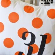 Halloween Polka Dot Pillow