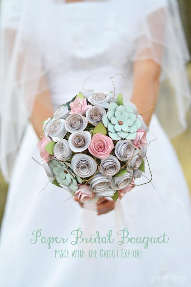 Diy paper bridal bouquet the happy scraps paper bridal cricut bouquet mightylinksfo