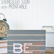 Kids Bedroom Stenciled Sign with Printable