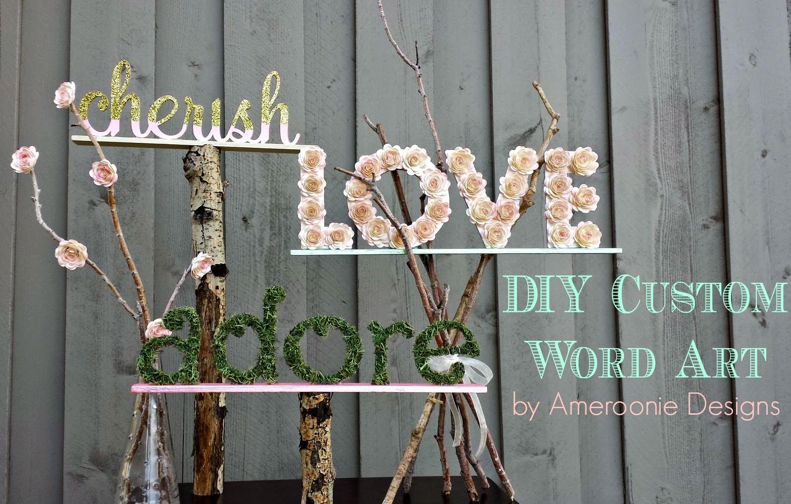 Custom Wedding Word Art