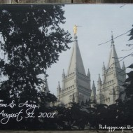 Temple Picture Block – Anniversary Gift