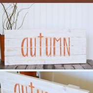 DIY Rustic Autumn Sign