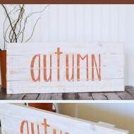 DIY Rustic Autumn Sign