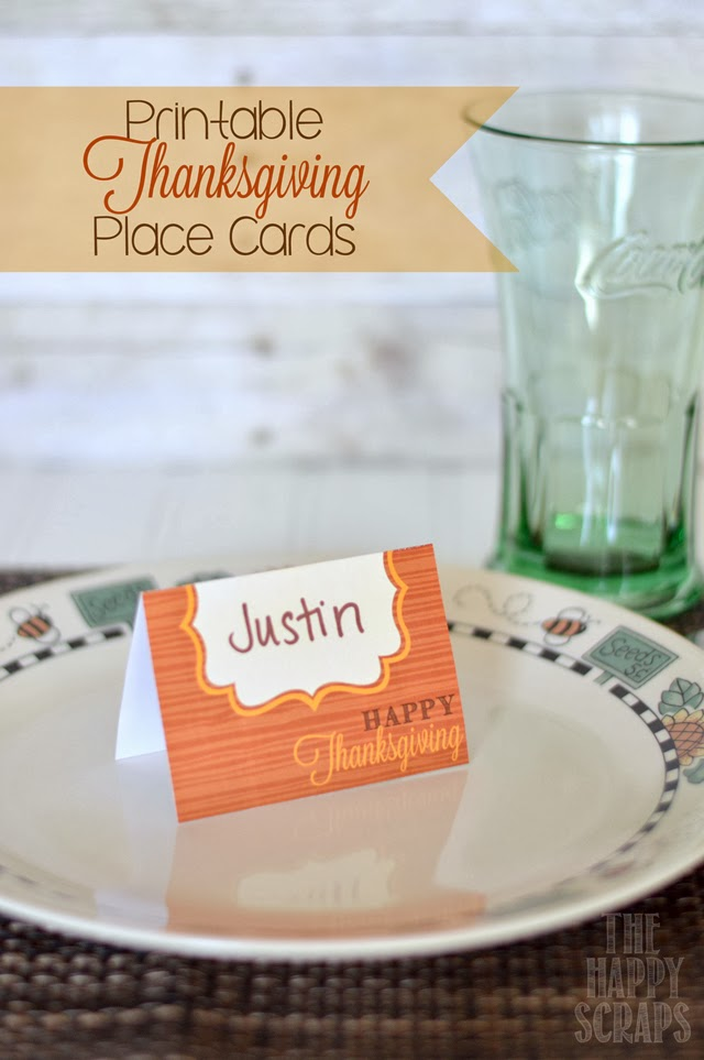 It is a photo of Printable Thanksgiving Name Cards inside floral