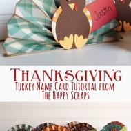 Turkey Name Card Tutorial