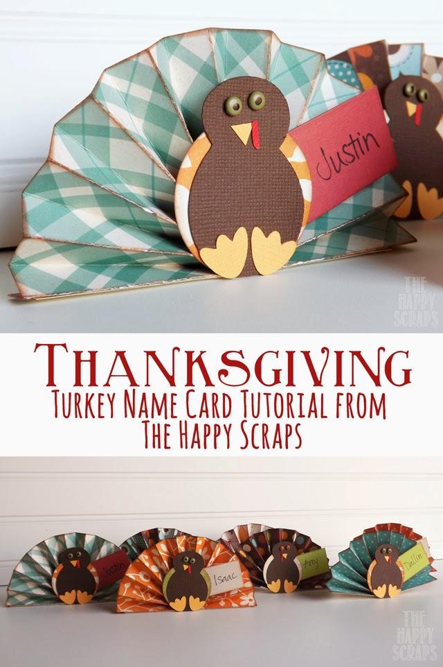 Turkey Name Card Tutorial Turkey Name Card
