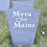 DIY Halloween Headstones