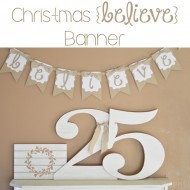 Christmas Believe Banner