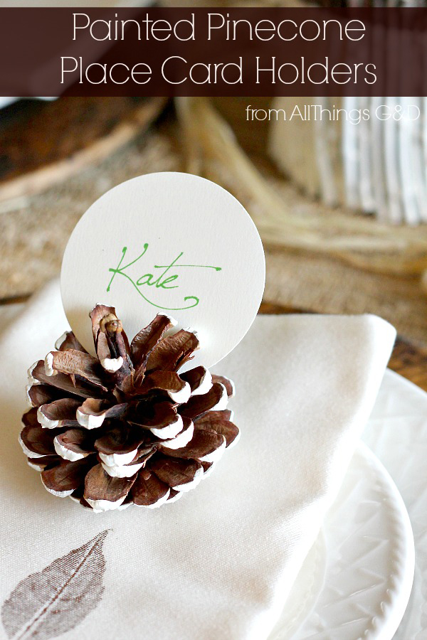 Painted-Pinecone-Place-Card-Holders