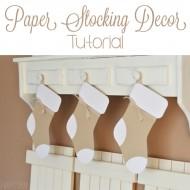 Paper Stocking Decor Tutorial