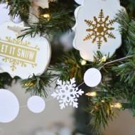Snowball & Snowflake Garland