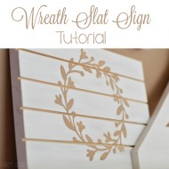 Wreath Slat Sign Tutorial