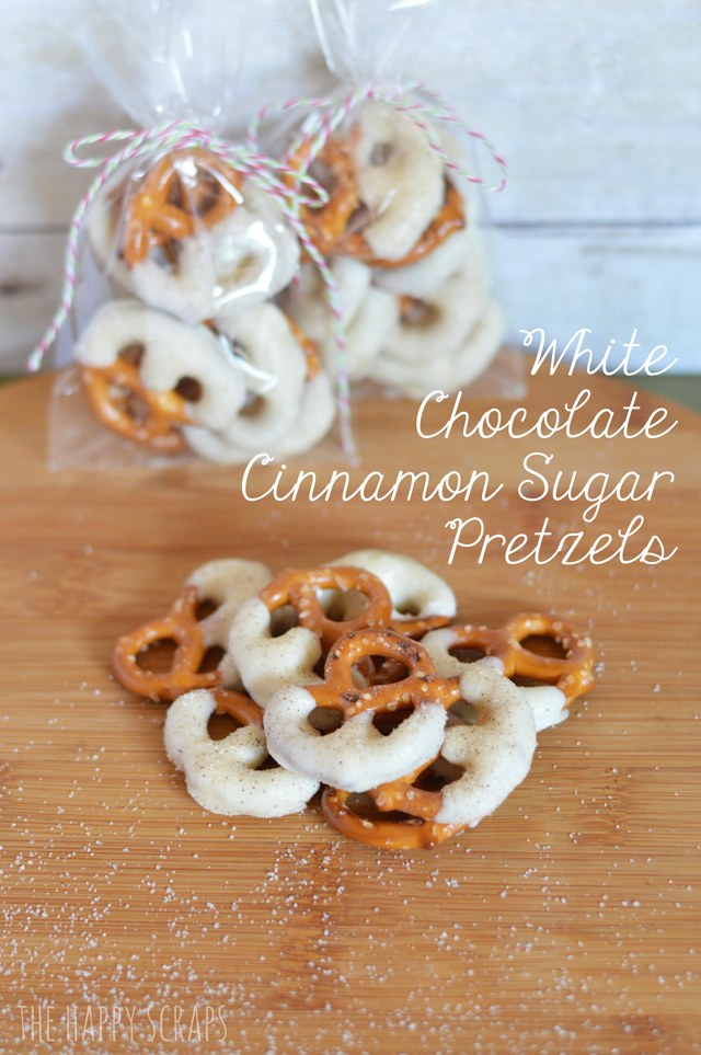 Dip your pretzels in melted white chocolate vanilla almond bark then ...