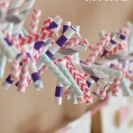 Valentine Paper Straw Garland