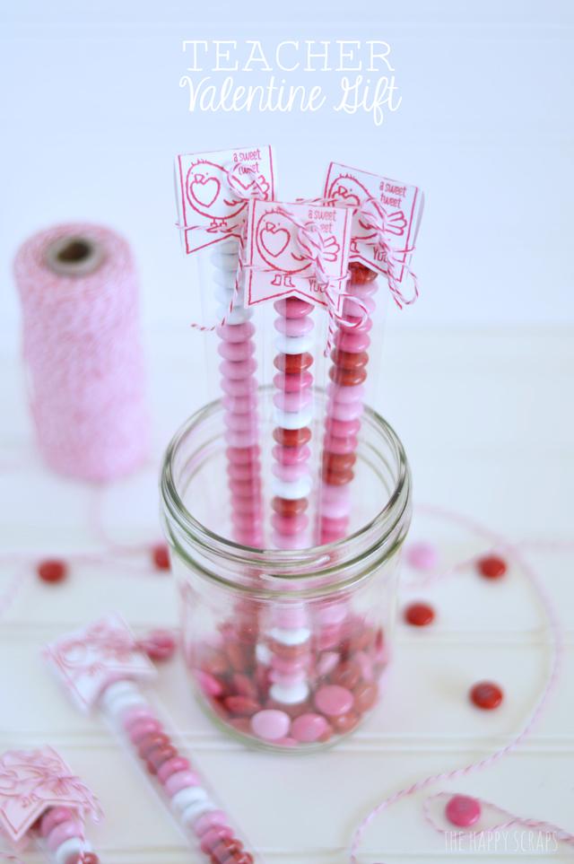 Teacher Valentine Gift The Happy Scraps