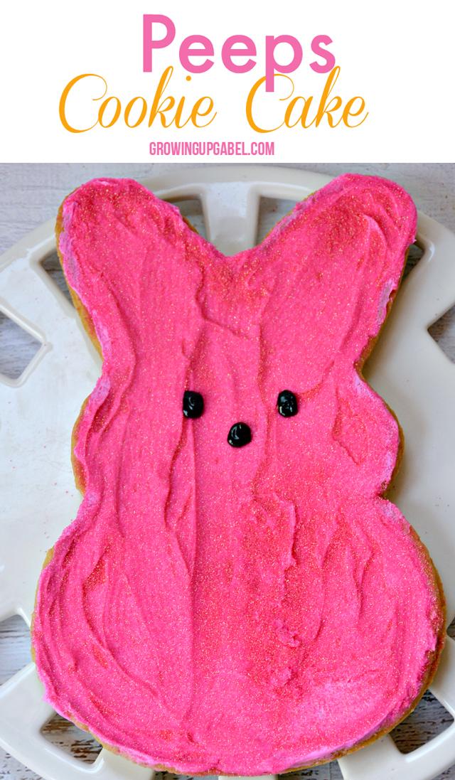 Pink-Peeps-Cookie-Cake