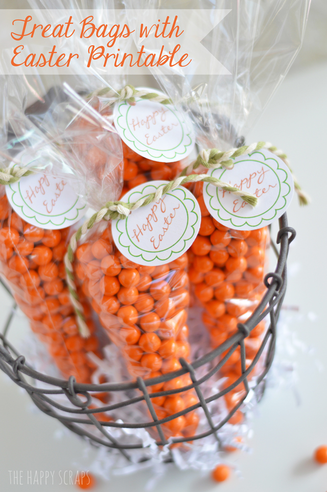 Carrot treat bags with easter printable the happy scraps easter printable negle Image collections