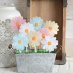 Vellum Flower Spring Centerpiece