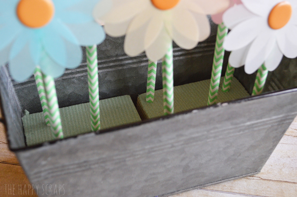 push-straws-in-floral-foam
