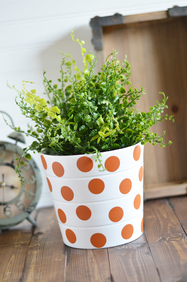 The Happy Scraps & Polka Dot House Plant Pot - The Happy Scraps