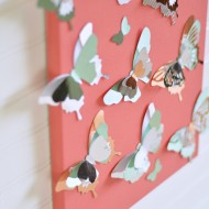 Flying Butterfly Wall Art