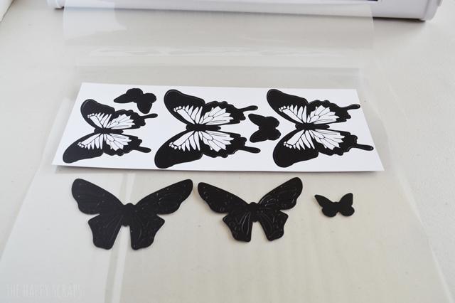 Flying Butterfly Wall Art The Happy Scraps