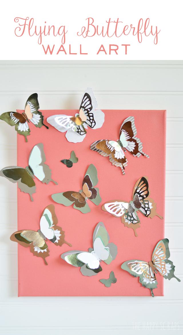 flying-butterfly-wall-art