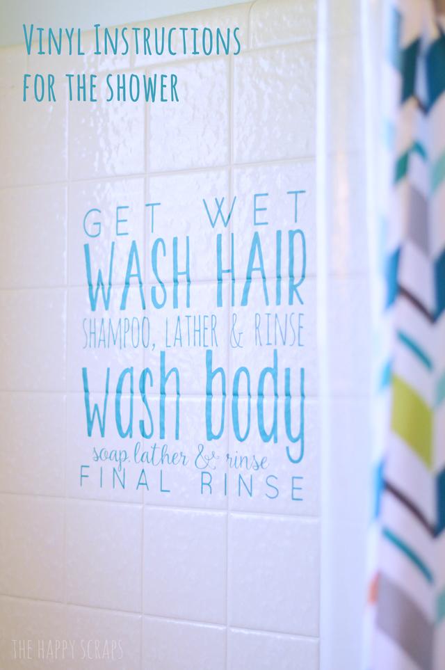 shower-instructions-vinyl