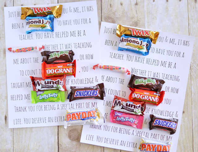 You could also create your own candy bar poster making it more
