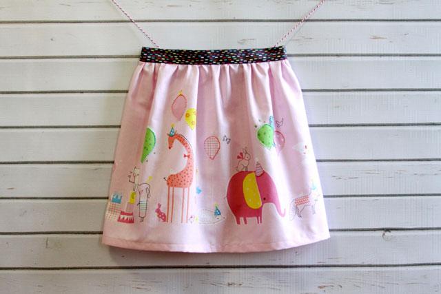 Gathered-Waist-Skirt
