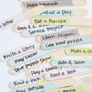Washi Tape Summer Activity Sticks