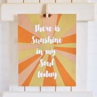 Foiled Sunshine Print