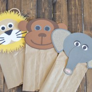 Animal Paper Sack Puppets