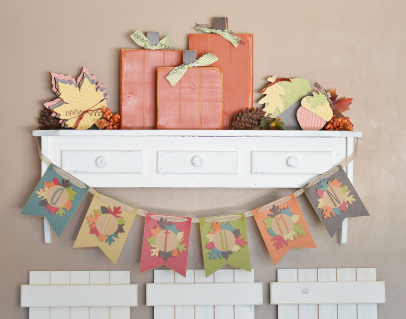 Diy Autumn Banner - The Happy Scraps DIY Autumn Banner - The Happy Scraps Diy Fall Crafts diy fall paper crafts
