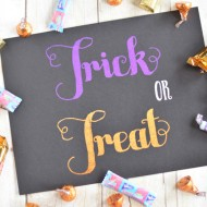 Foiled Trick or Treat Printable