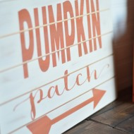 Pumpkin Patch Slat Sign