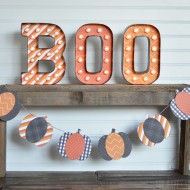Marquee BOO Letters