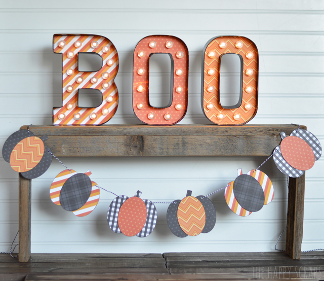 Marquee letters are SO fun! Make yourself some Marquee Boo Letters to celebrate Halloween. They go perfect on a mantel or shelf.