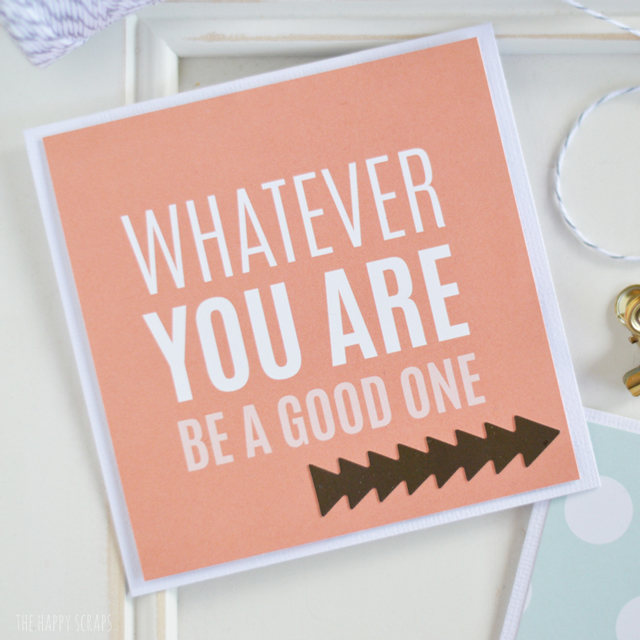 be-a-good-one-card