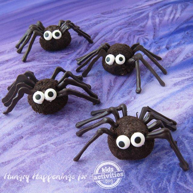 chocolate-oreo-truffle-spiders-