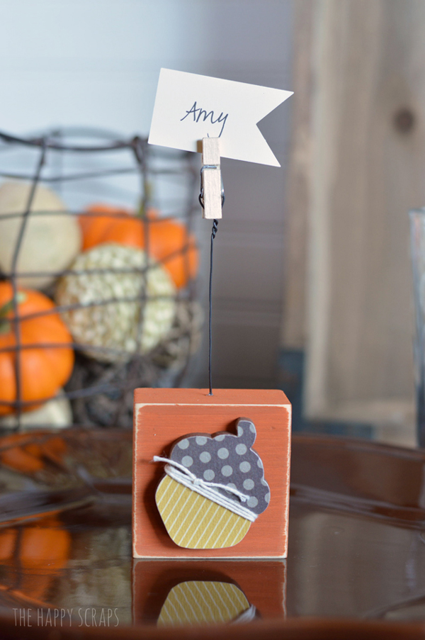 Thanksgiving Place Card Holder 1 The Happy Scraps