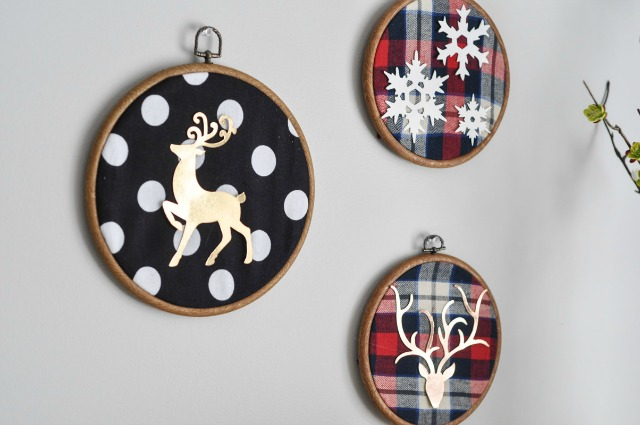 Deer-Embroidery-Hoop-Christmas-Wall-Art-With-Sizzix-9